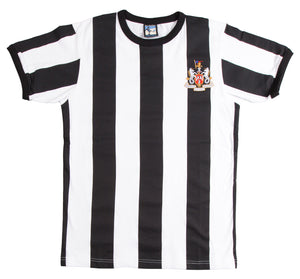 Newcastle United Retro Football T Shirt 1960s - T-shirt