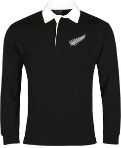 New Zealand Retro Rugby Shirt Long-sleeved - Rugby Shirt