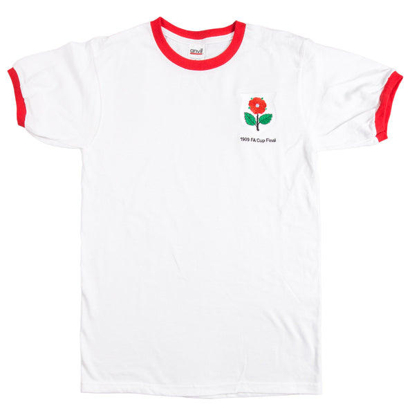 Manchester United Retro  Football T Shirt 1909 FA Cup Final - T-shirt