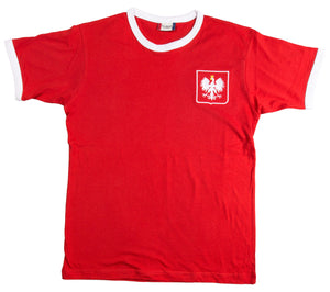 Poland Retro Football T Shirt 1960s - T-shirt