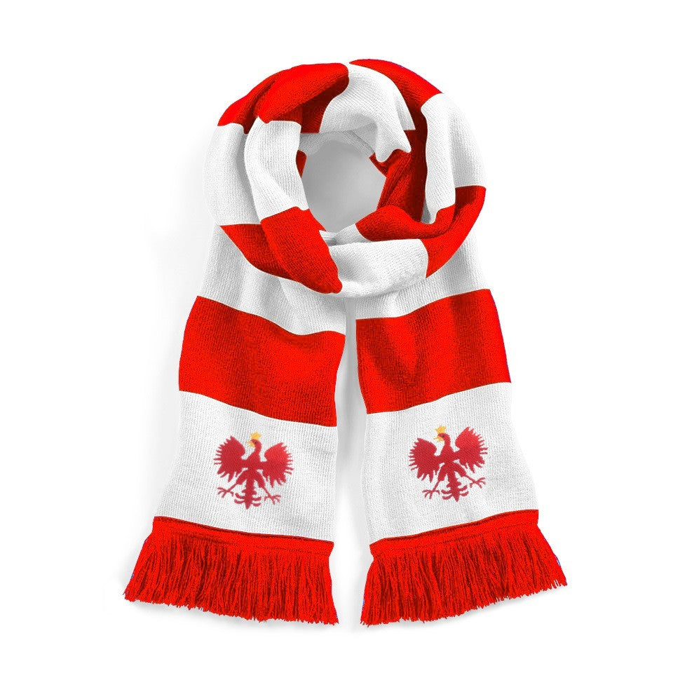 Poland Retro Football Scarf - Scarf