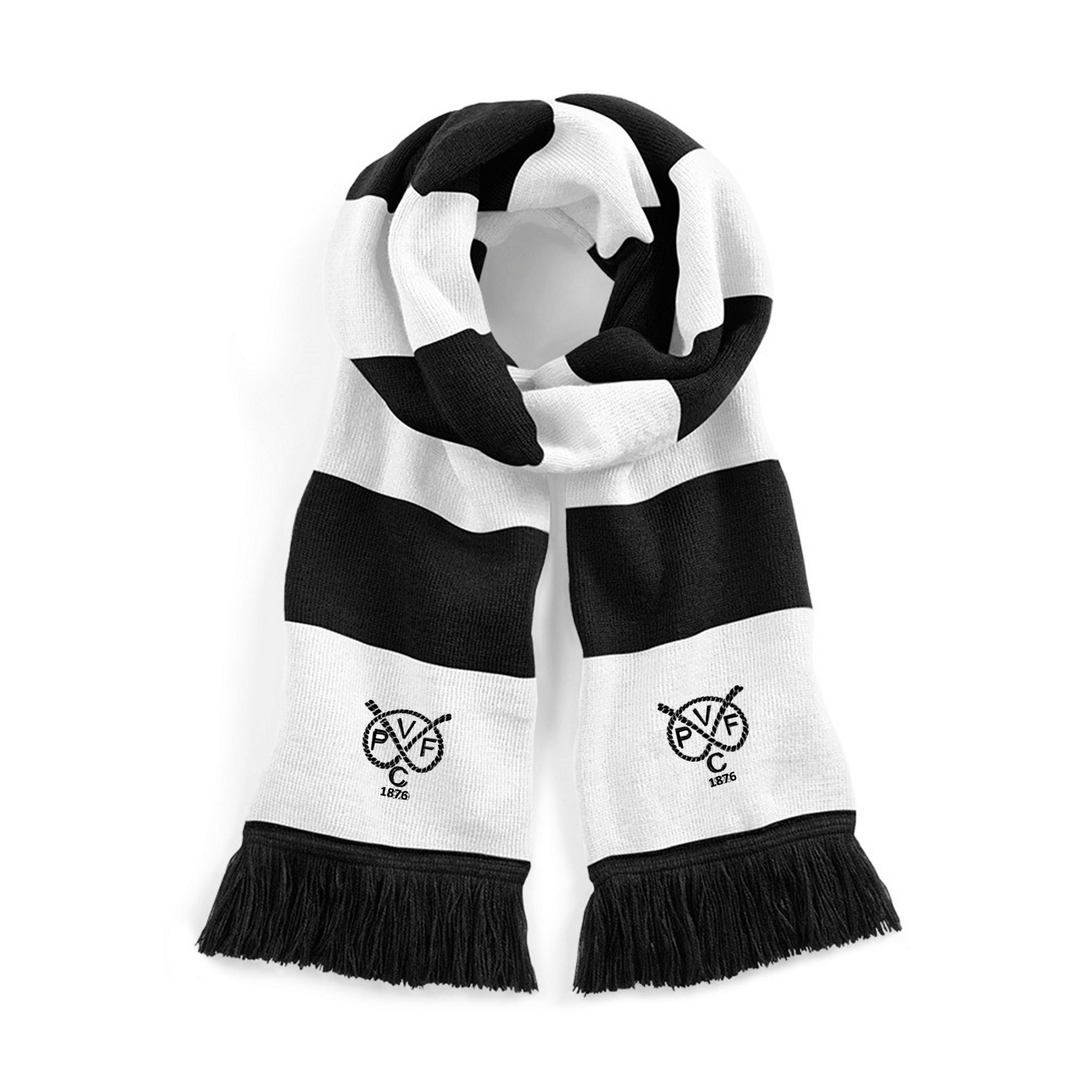 Port Vale Retro 1876 Traditional Football Scarf - Scarf
