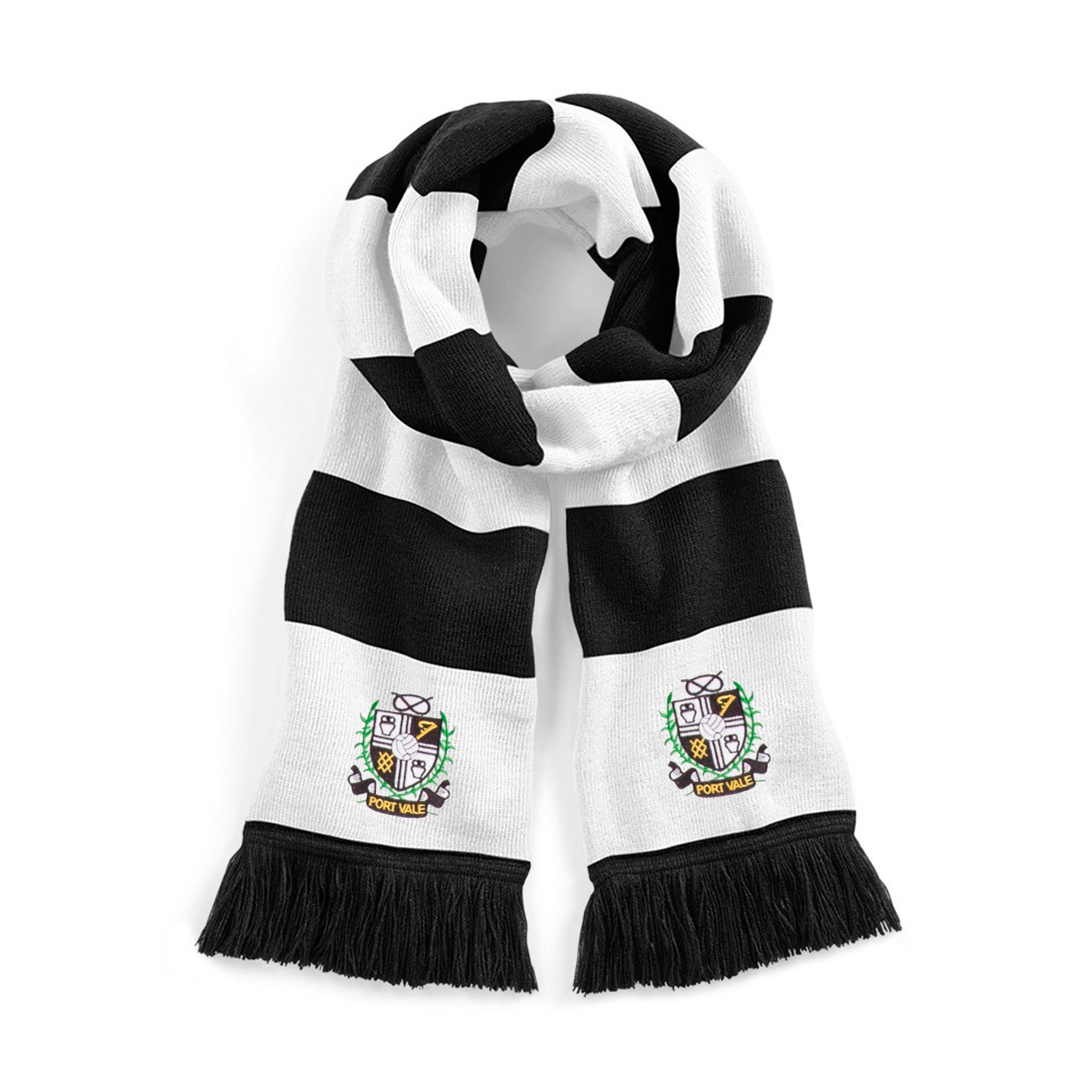Port Vale Retro 1960s Traditional Football Scarf - Scarf
