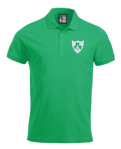 Republic of Ireland Eire Rugby Retro Polo Shirt - Polo
