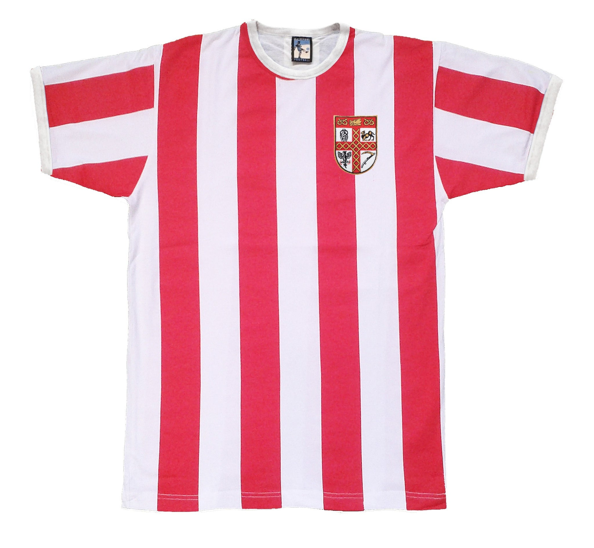Stoke City Retro Football T Shirt 1953 - 1957 - T-shirt