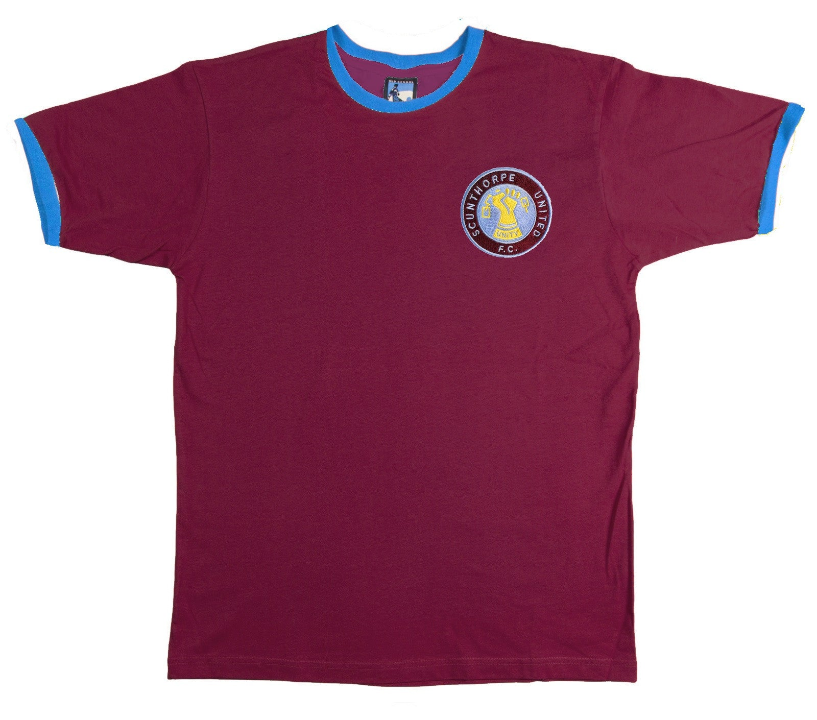 Scunthorpe United Retro Football T Shirt 1980s - T-shirt
