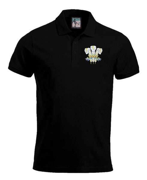 Wales Rugby Retro 1970s Football Polo Shirt - Polo