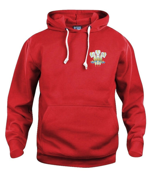 Wales 1970's National Rugby Hoodie Embroidered Logo Sizes S-XXXL - Old School Football