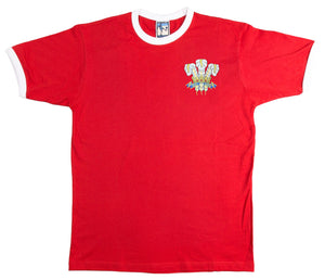 Wales 1970's National Rugby T-shirt Embroidered Logo Sizes S-XXXL - Old School Football