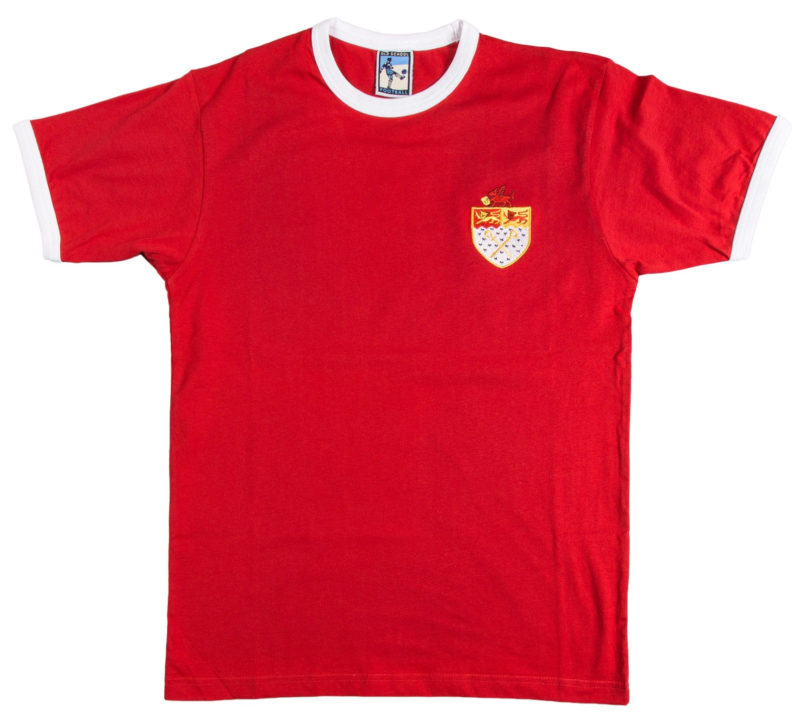 Wrexham Retro Football T Shirt 1960s & 1970s - Old School Football