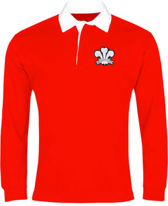 Wales Retro Rugby Shirt Long-sleeved 1900 - Rugby Shirt