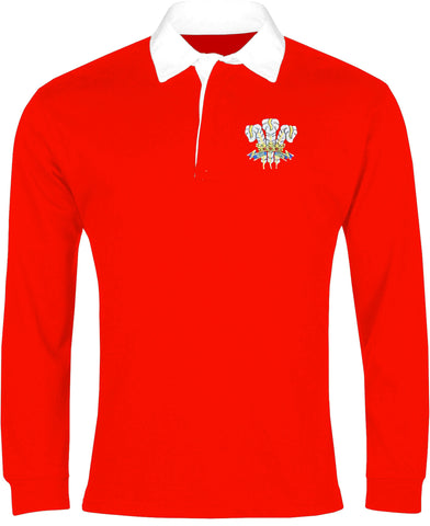 Wales Retro Rugby Shirt Long-sleeved 1970s - Rugby Shirt