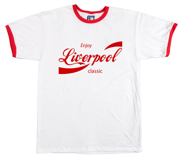 Enjoy Liverpool Retro T Shirt - T-shirt