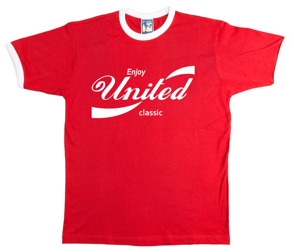 Enjoy United Retro T Shirt Classic Coca Cola Inspired - T-shirt