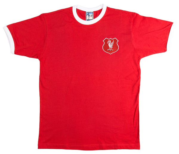 Liverpool Retro Football T Shirt 1950s - T-shirt