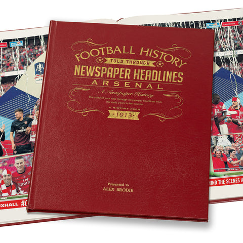 Football Newspaper Book - A3 Leather Cover - Gift Book