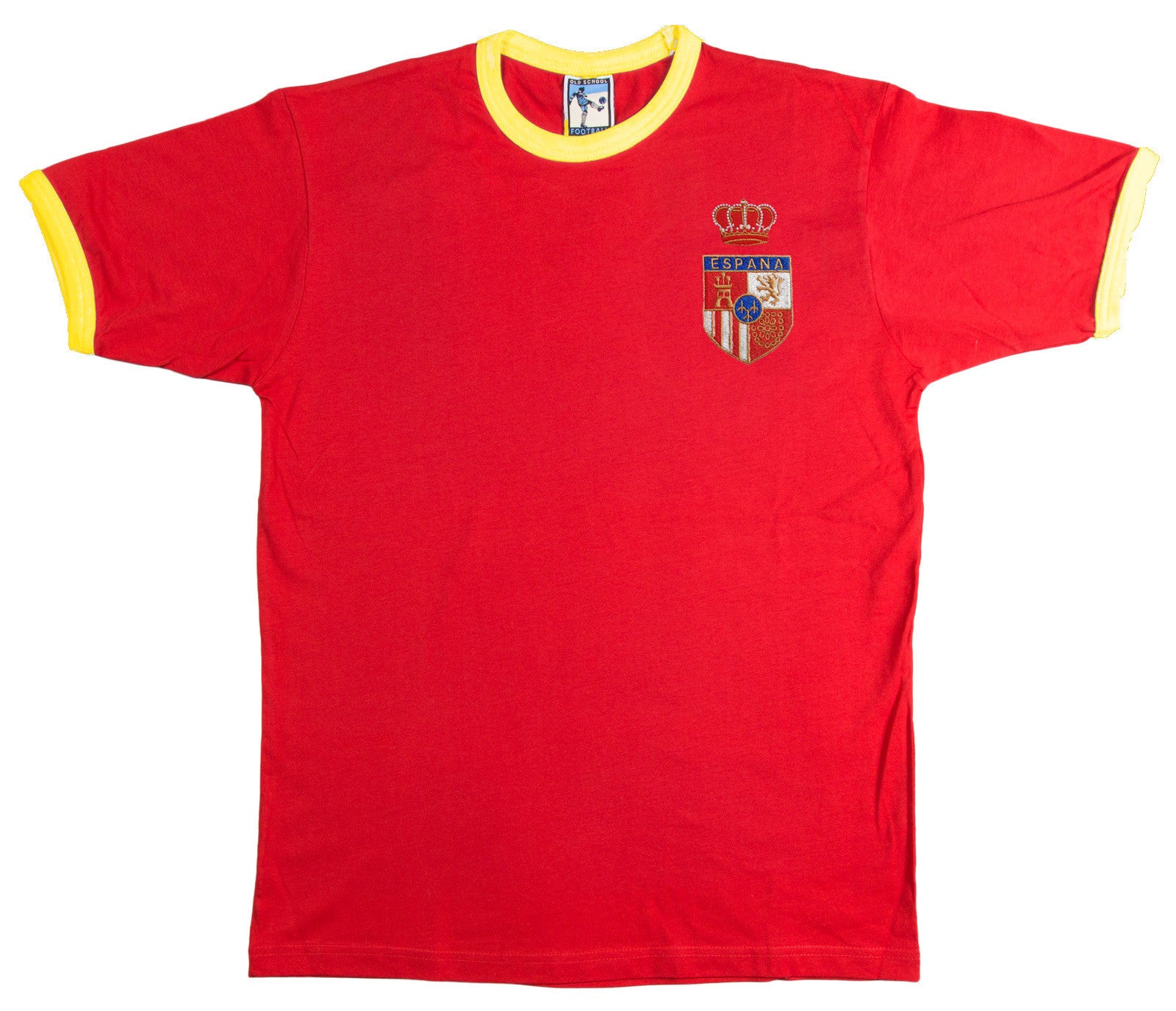 Spain Retro Football T Shirt 1970s - T-shirt