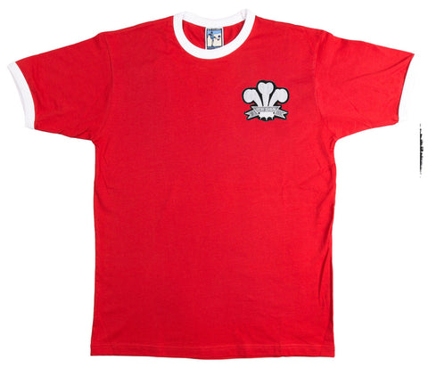 Wales National Rugby T-shirt Embroidered Logo Sizes S-XXL - Old School Football