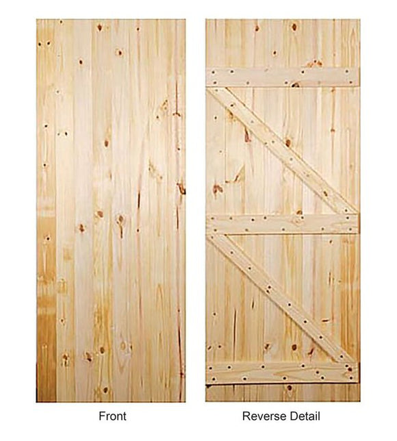 Indoors Ledged/Braced Utility Door 80 X 32In X 44Mm