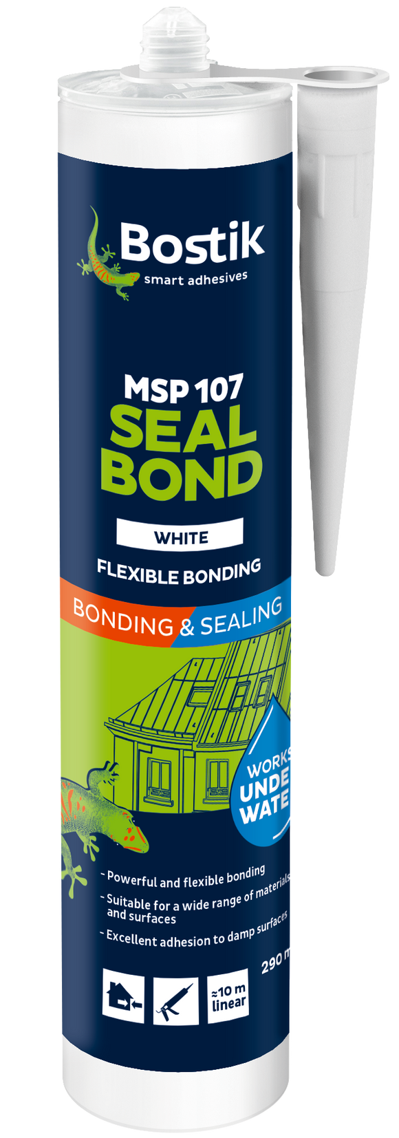 BOSTIK MSP 107 WHITE MS POLYMER 290ML CTG