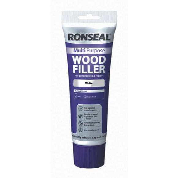 Ronseal Multi Purpose Wood Filler Tube 325g White