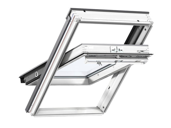 Velux White Painted Centre Pivot Roof Window CK02  - 55X78Cm