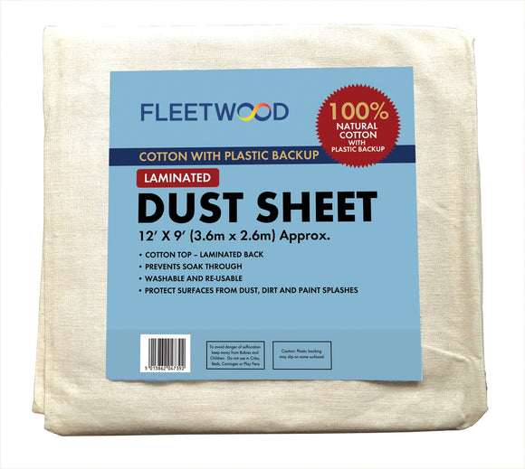 Laminated Cotton Dust Sheet 12' x 9'