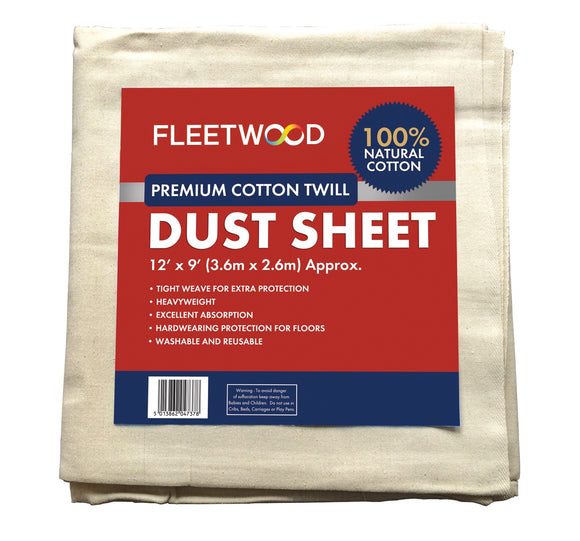 PREM. COTTON DUST SHEET 12x9