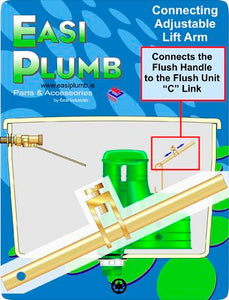 Easi Plumb Brass Lift Arm For Siphon