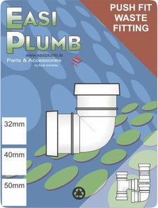 "Easi Plumb 11/4""""/32mm 90 Deg.  Knuckle Elbow"""