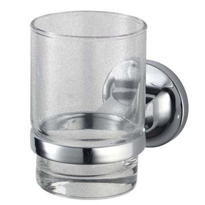 TEMA MALMO TUMBLER HOLDER CHROME W GLASS TUMBLER