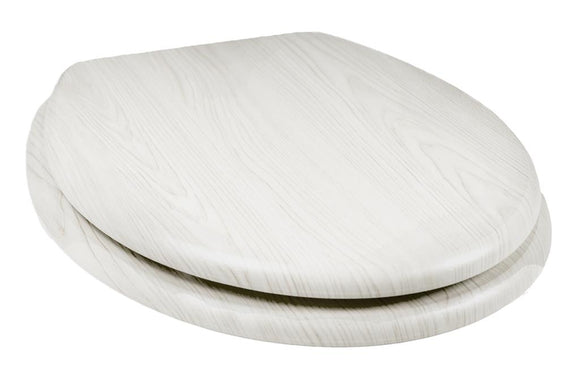 TEMA WOODLAND INSPIRED TOILET SEAT WHITE WOODGRAIN