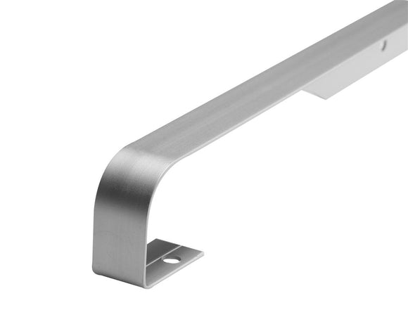 WORKTOP SILVER 38MM  BUTT JOINT  10MM PROFILE