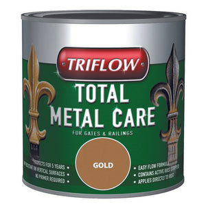 Triflow Metal Care For Gates & Railings 250ml Gold Hammered