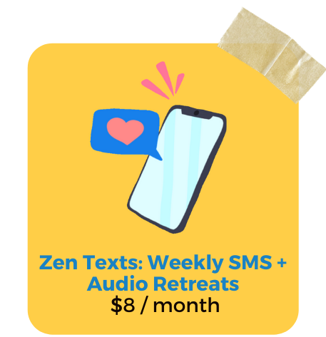 Zen Texts by Zenit. Weekly SMS text message and audio wellness journaling mini-retreats