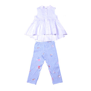 Lapin House White And Blue Stripe Set