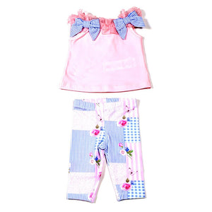 Lapin House Pink And Blue Printed Set