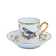 Richard Ginori Impero Voliere Coffee Cup With Saucer