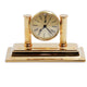 El Casco Clock Pen Holder Gold