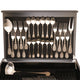 Herdmar Rocco 18/10 Cutlery Set Mat Black Handle 75 pcs