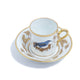 Richard Ginori Impero Voliere Grimpereau Bleu Coffee Cup With Saucer
