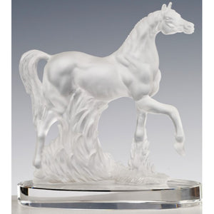 Cristal De Paris Arab Thoroughbred Horse - Clear Frosted