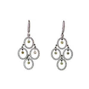 Digo Earrings 18 Carat White Gold