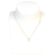 Esprit Necklace Ip Rosegold Color With Stone Pendant