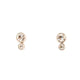 Fossil Silver Color Earring Base Metal With Zircon