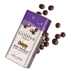 Godiva Crispy Mini Pearls Dark Chocolate 35g - Pack Of 2