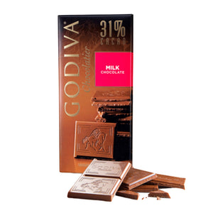 Godiva Tablet Milk Chocolate 31% 100g - (Pack Of 2)