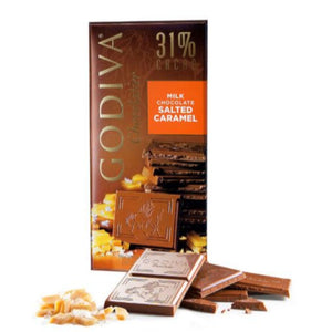 Godiva Tablet Milk Chocolate 31% Salted Caramel 100g - (Pack Of 2)