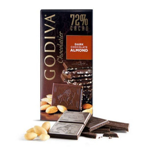 Godiva Tablet Dark Chocolate 72% Almond 100g - (Pack Of 2)