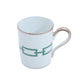 Richard Ginori Impero Catena Smeraldo Kit Mug With Cover